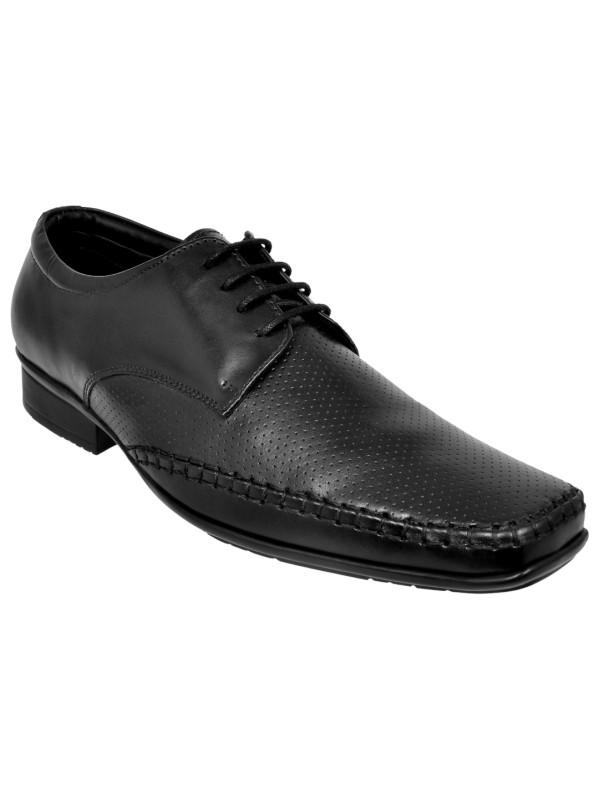 Genuine Leather Black Dress Shoes For Men
