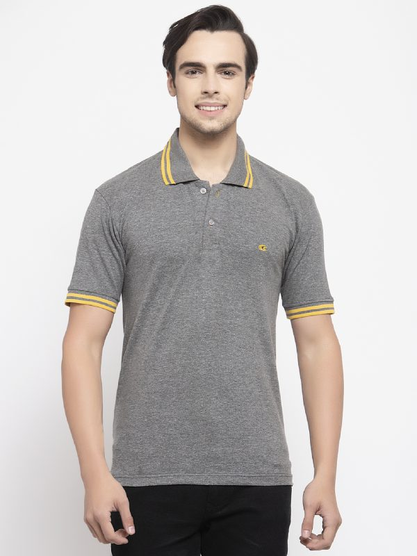 Grey Polo T-shirts For Men