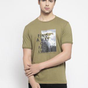 Olive green tshirt for men