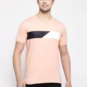 Peach Color T-shirt For Men, Peach Color Cotton Tshirt For Men, Half Sleeves tshirt for men, pink tshirt for men, cool pink tshirt for boys