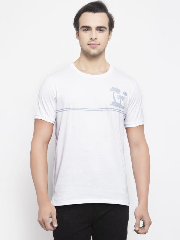 Round neck White T-shirt For Men at best price, White Tshirt for men