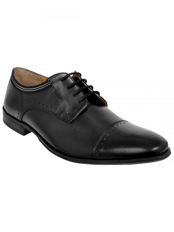 Genuine Leather Black Formal Shoes For Men