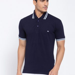Navy Blue Polo T-shirts For Men