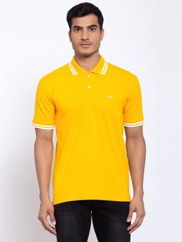 Yellow Polo T-shirt For Mens