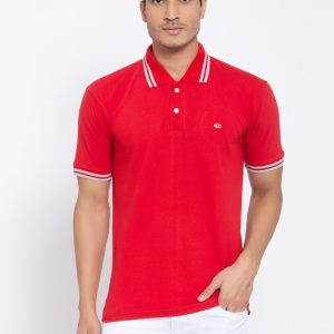 Red Polo T-shirt For Men by Allen Cooper