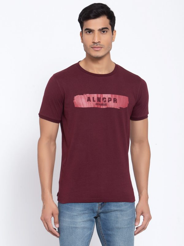 Maroon T-shirts For Mens